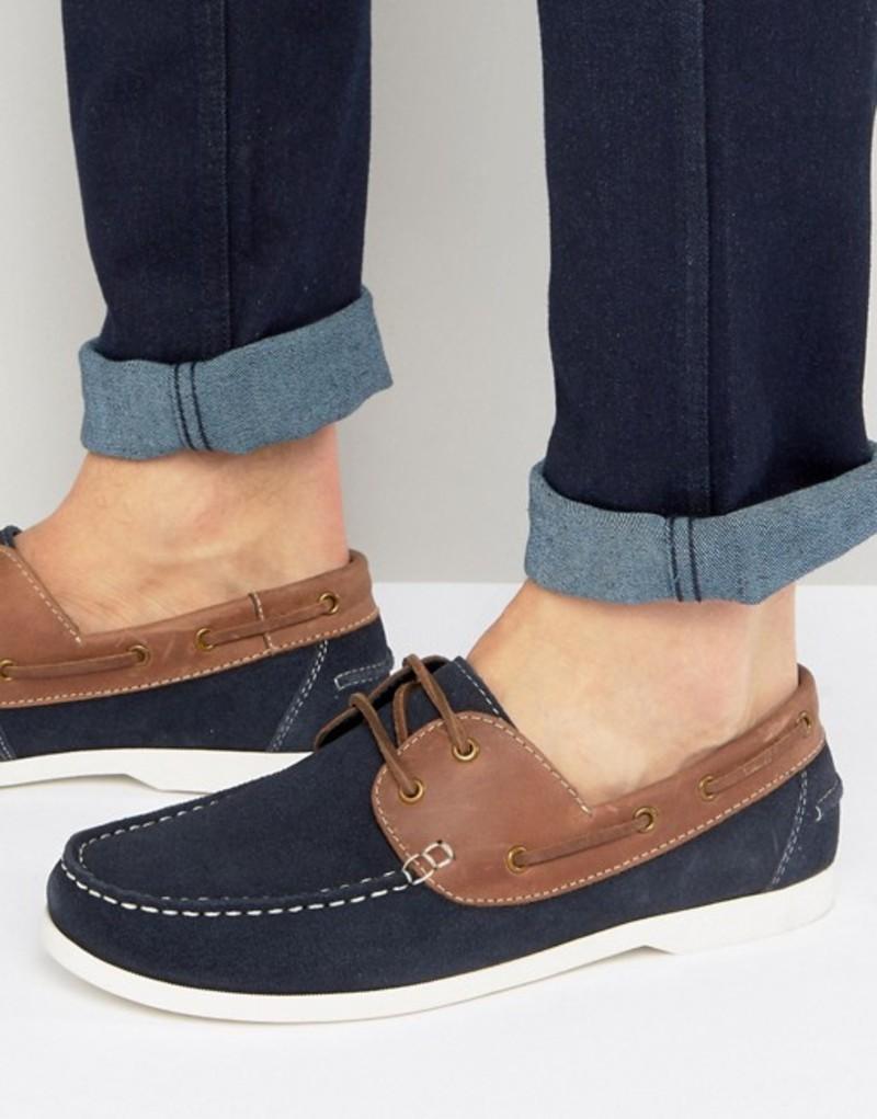 シルバー ストリート メンズ デッキシューズ シューズ Silver Street Boat Shoes Navy Navy