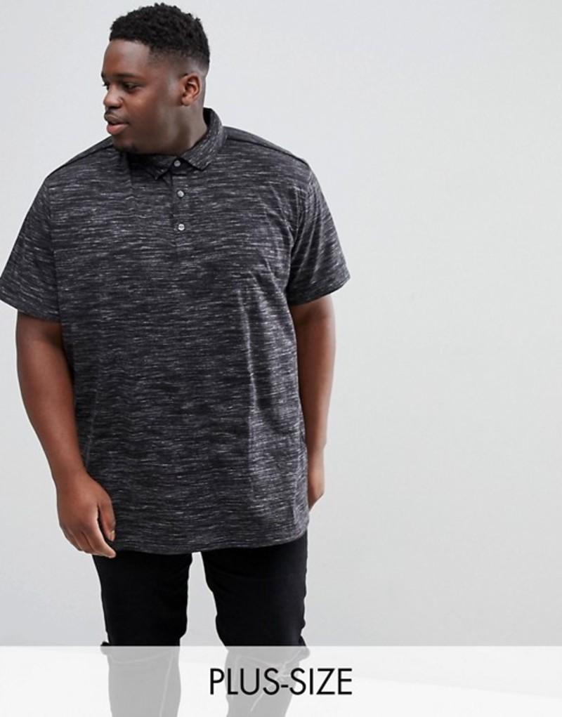 ロイヤリティ アンド フェイス メンズ ポロシャツ トップス Loyalty and Faith PLUS Marl Polo Shirt Black