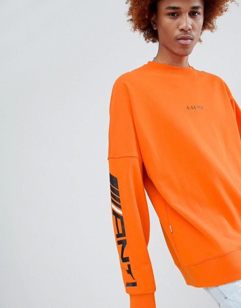 アンチメーター メンズ Tシャツ トップス Antimatter Long Sleeve T-Shirt In Orange Orange