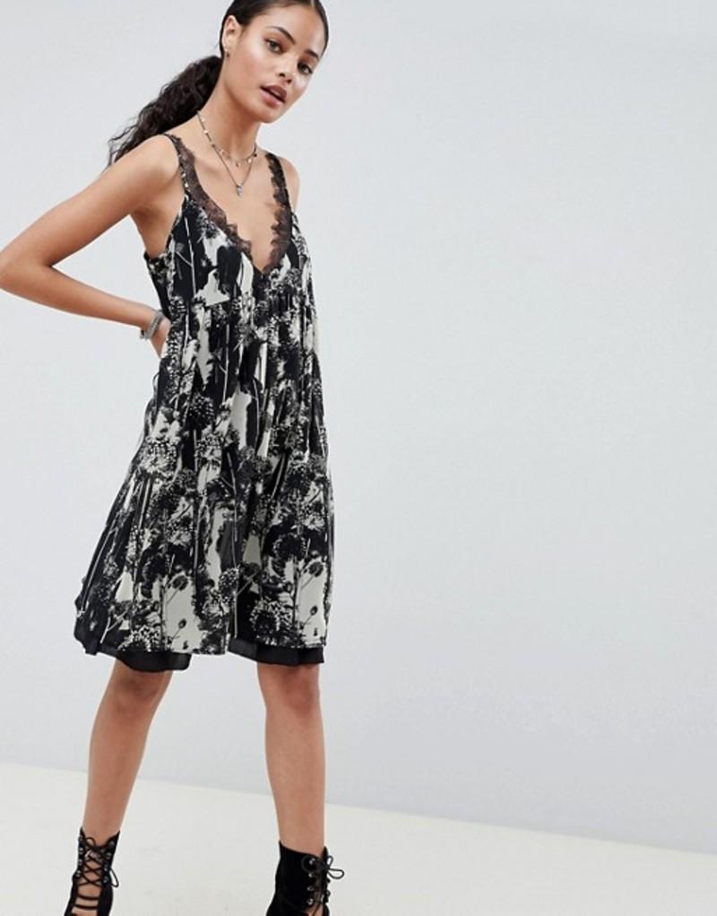 レリジョン レディース ワンピース トップス Religion Neo Slip Dress in Virginia Print Jet black/white