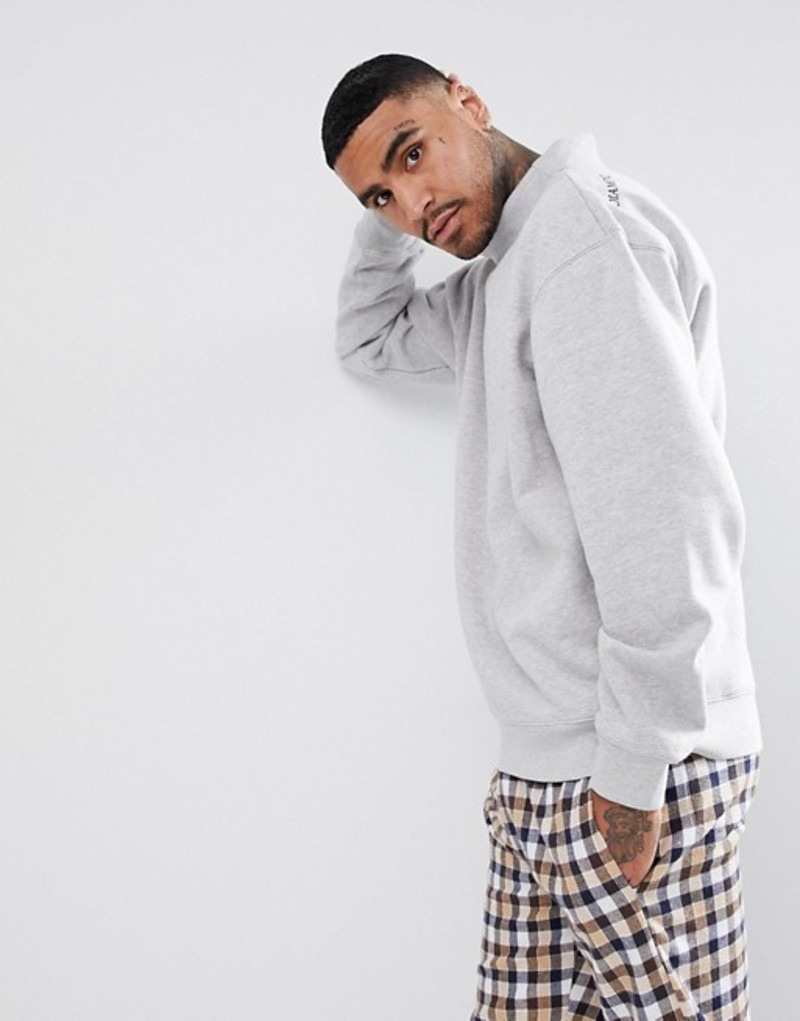ダイヤモンドサプライ メンズ パーカー・スウェット アウター Diamond Supply Sweatshirt With Turtleneck Grey
