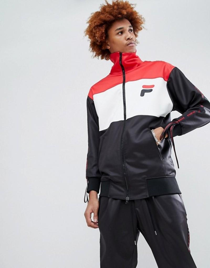 ディー アンチドート メンズ パーカー・スウェット アウター D-Antidote x Fila Track Jacket With Taping Black