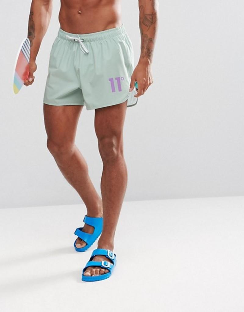 イレブンディグリー メンズ ハーフパンツ・ショーツ 水着 11 Degrees swim shorts in pastel mint Mint