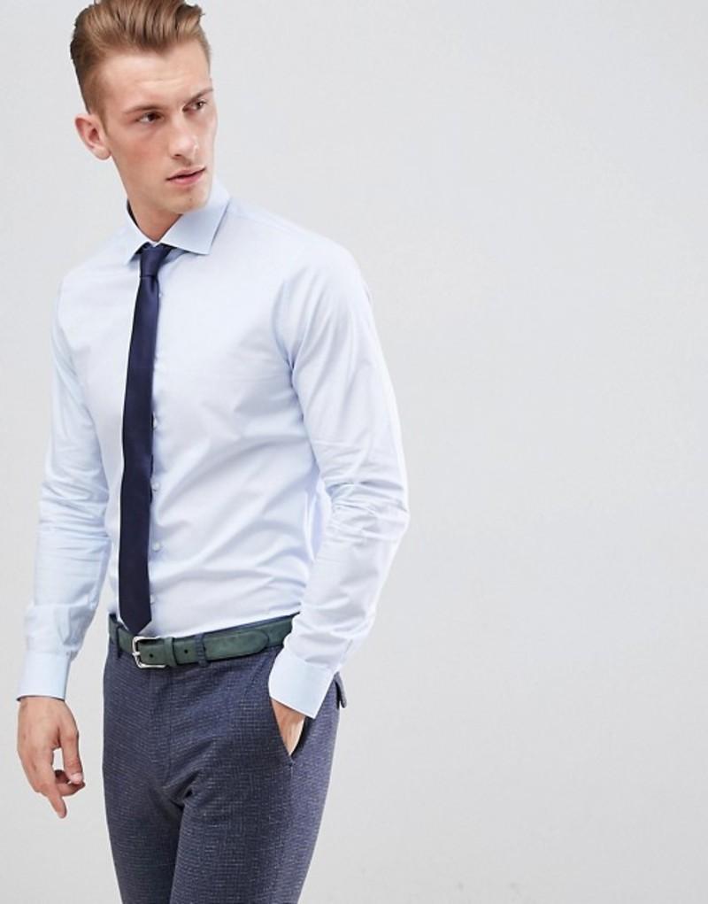 マイケルコース メンズ シャツ トップス michael kors slim fit smart shirt in light blue stretch Light blue