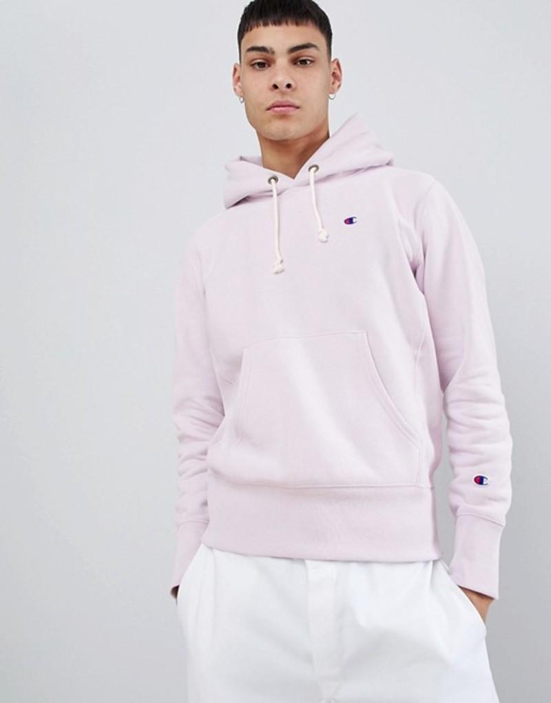 チャンピオン メンズ パーカー・スウェット アウター Champion hoodie with small logo in lilac Purple