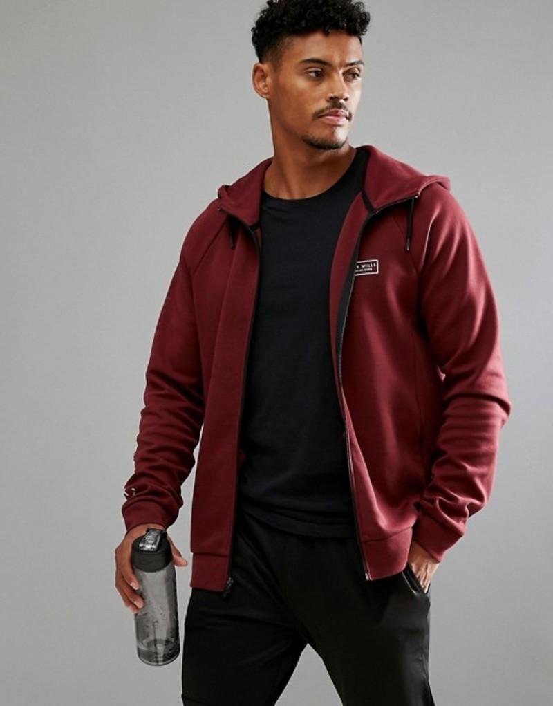 ジャックウィルス メンズ パーカー・スウェット アウター Jack Wills Sporting Goods Pembroke Hi Neck Zip Through Sweater In Red Red