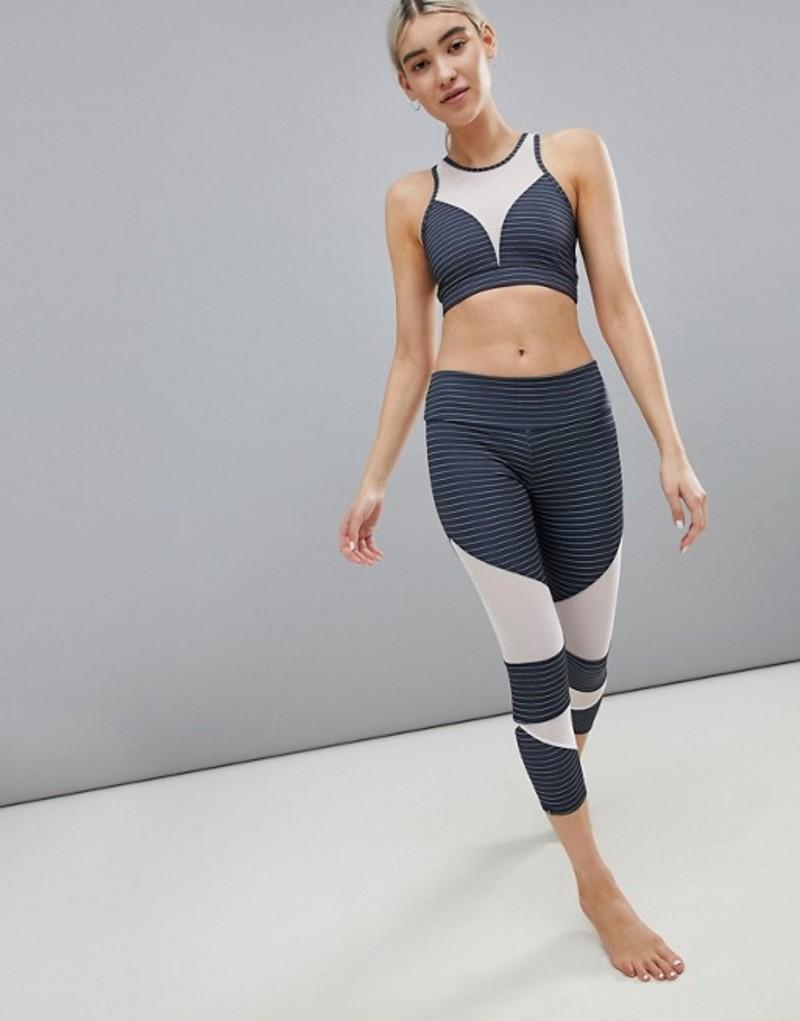 オンジー レディース レギンス ボトムス Onzie Mesh Panel Cut-Out Capri Leggings Multi