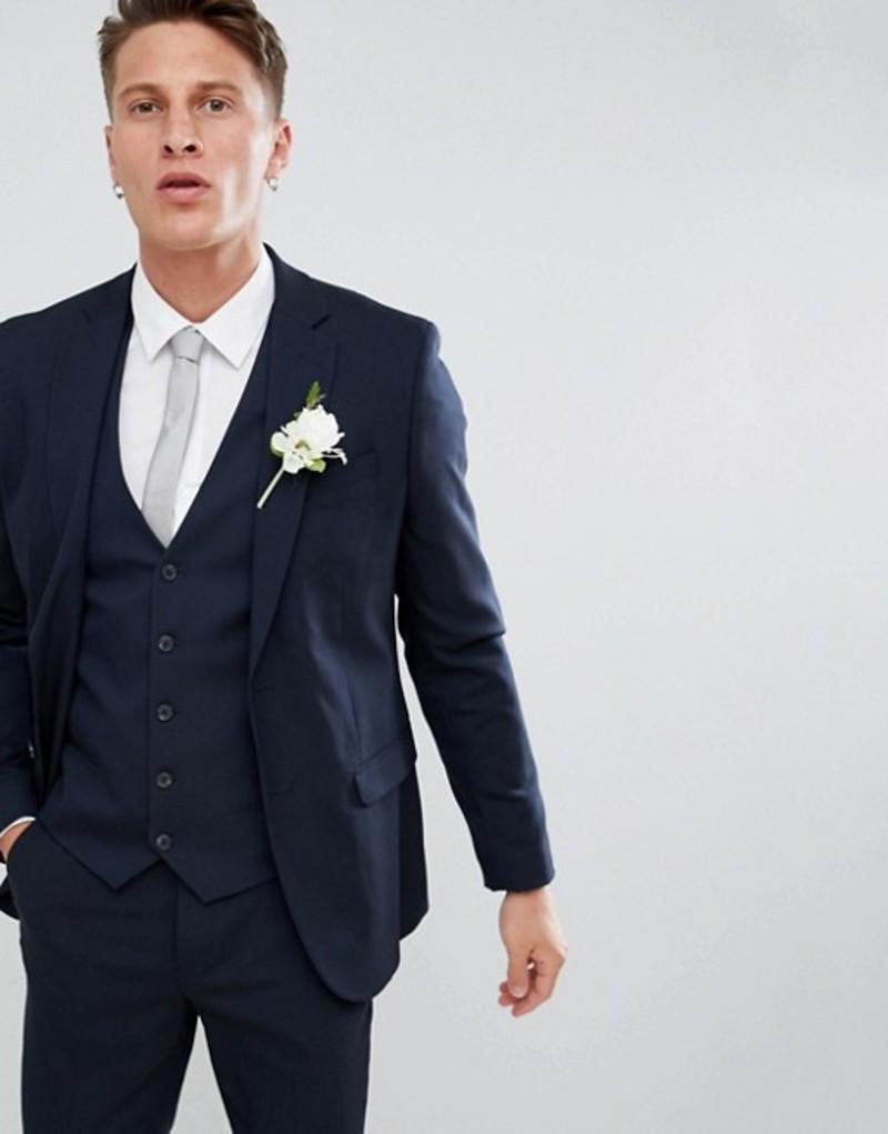 ニュールック メンズ ジャケット・ブルゾン アウター New Look Skinny Fit Suit Jacket In Navy Mid blue