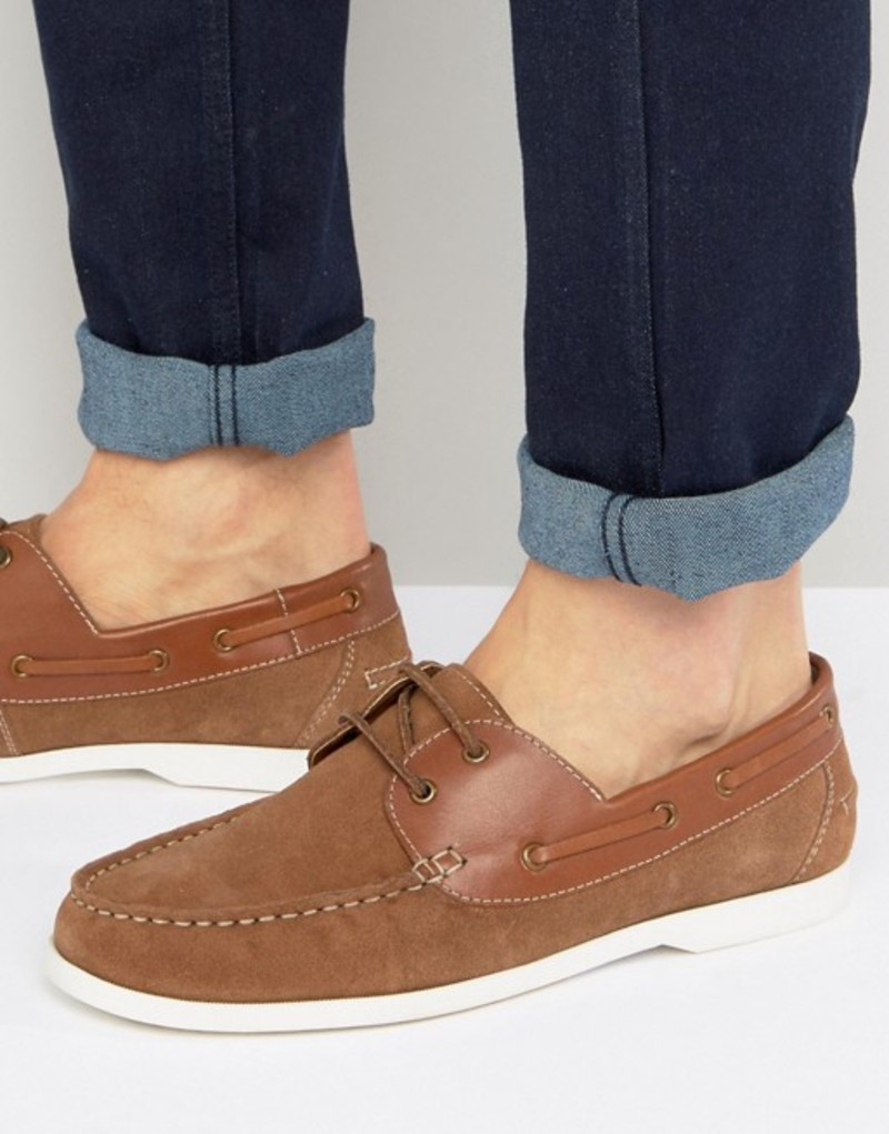 シルバー ストリート メンズ デッキシューズ シューズ Silver Street Boat Shoes Tan Tan