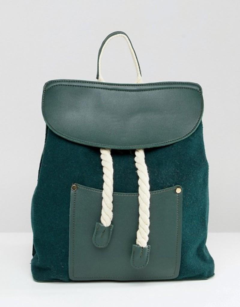 リクオリッシュ レディース バックパック・リュックサック バッグ Liquorish rope detail backpack Green