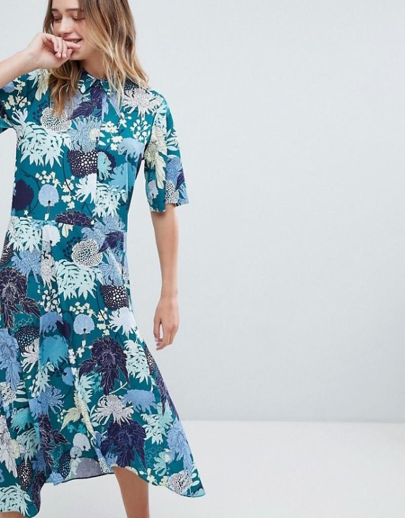 モンキ レディース ワンピース トップス Monki Floral Print Midi Button Up Dress Japanflower