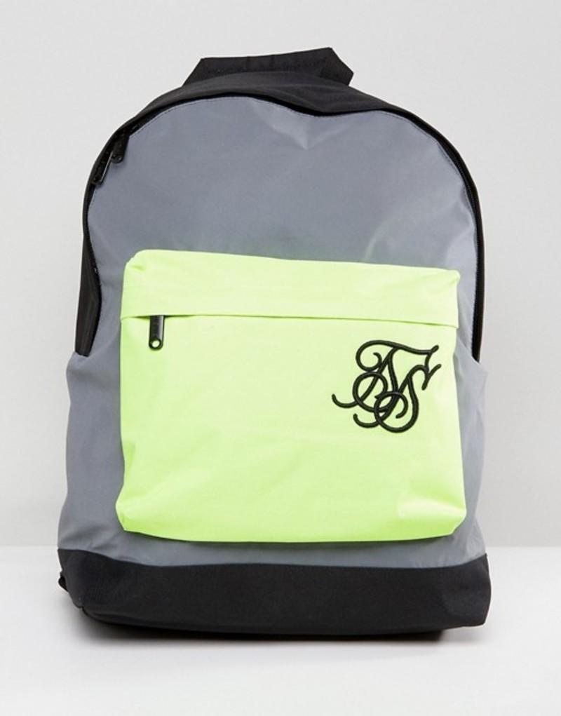 シックシルク メンズ バックパック・リュックサック バッグ SikSilk backpack in reflective Grey