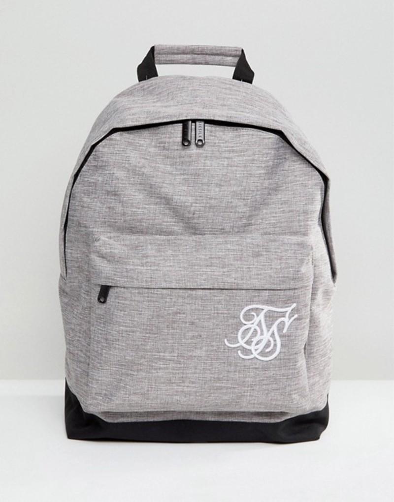 シックシルク メンズ バックパック・リュックサック バッグ SikSilk backpack in gray marl Grey