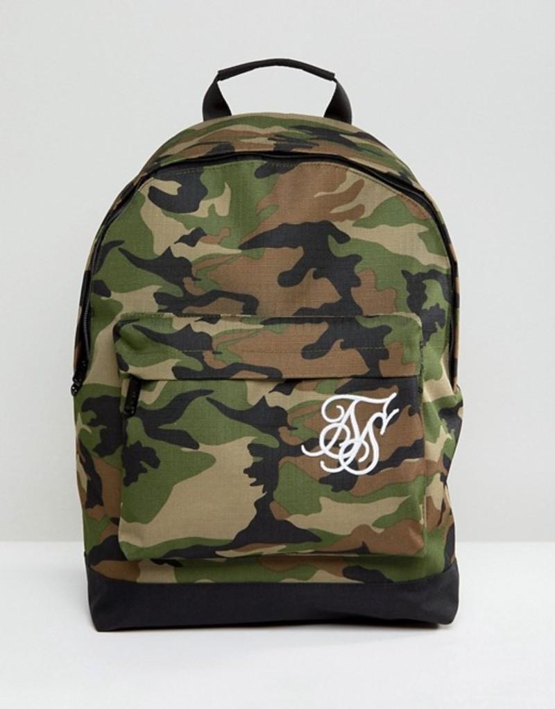 シックシルク メンズ バックパック・リュックサック バッグ SikSilk backpack in camo Camo