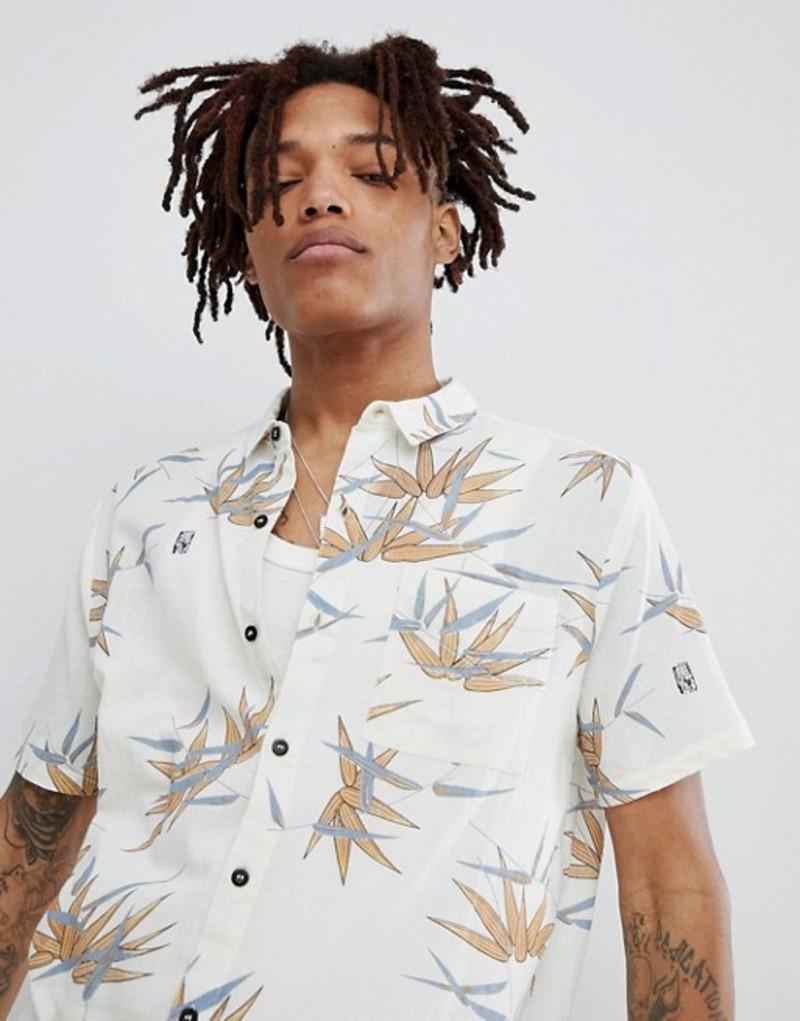 ロラス メンズ シャツ トップス Rollas bon short sleeve shirt tropical bamboo print Bamboo bleach