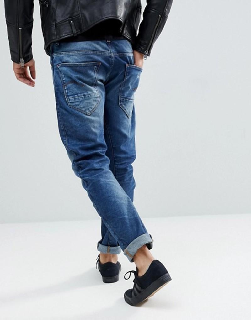 ジースター メンズ デニムパンツ ボトムス G-Star Arc 3D Slim Jeans Medium Aged Restored Blue