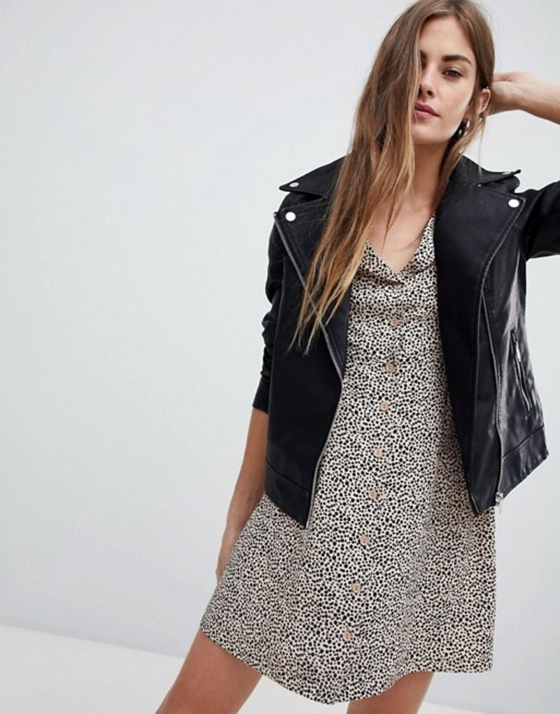 ニュールック レディース ジャケット・ブルゾン アウター New Look Leather Look Biker Jacket Black