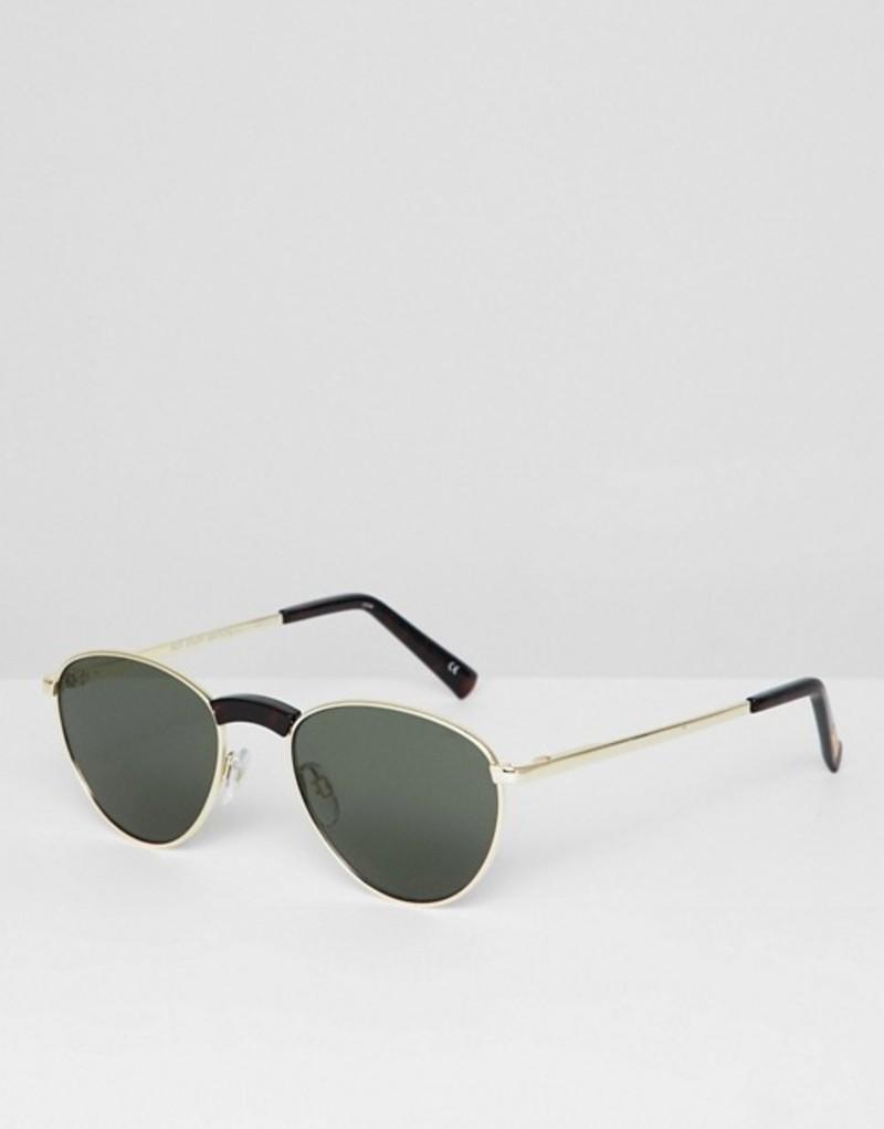 ルスペックス メンズ サングラス・アイウェア アクセサリー Le Specs hot stuff edition aviator sunglasses in gold Gold