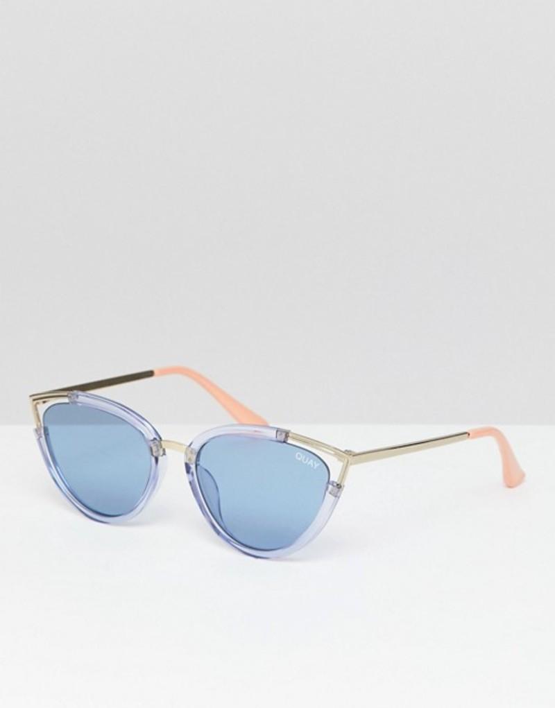 クアイオーストラリア メンズ サングラス・アイウェア アクセサリー Quay Australia Hearsay cat eye sunglasses Blue