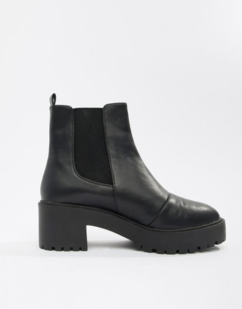エイソス レディース ブーツ・レインブーツ シューズ ASOS DESIGN Revival chunky Chelsea boots Black