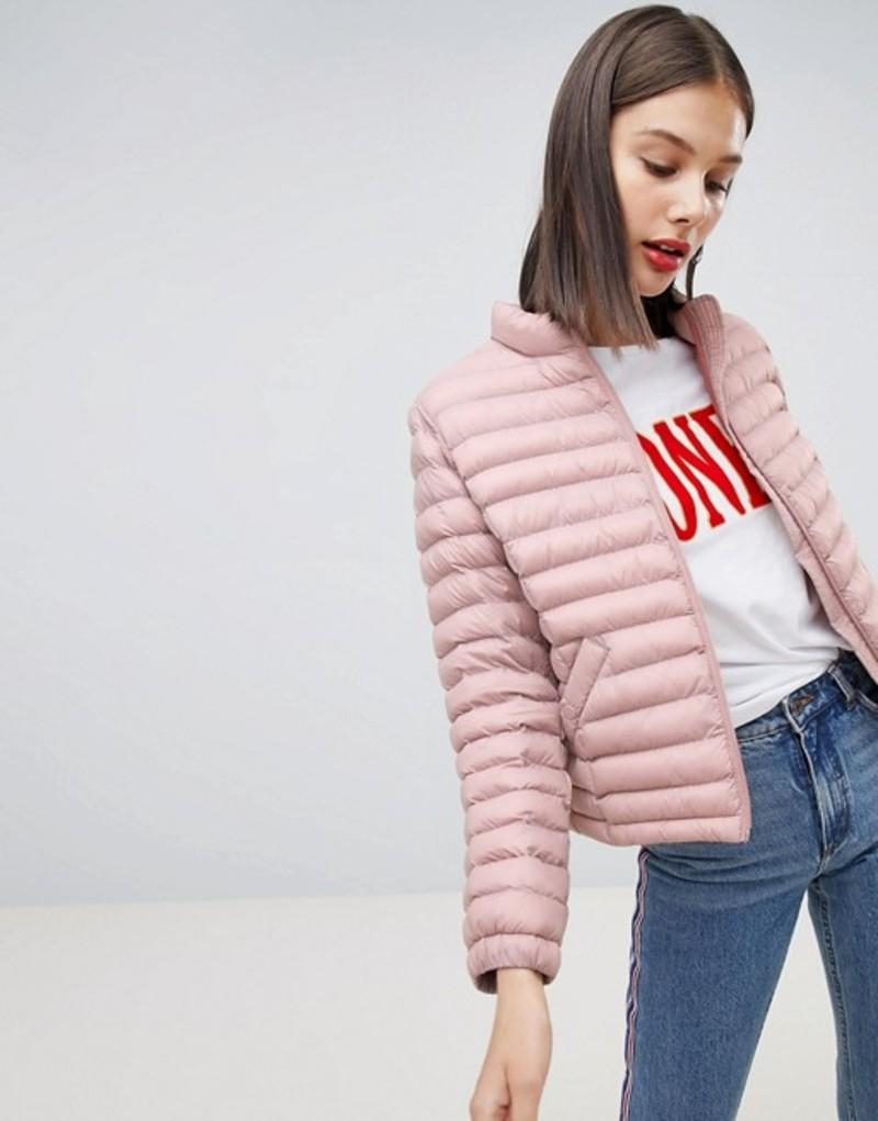エスプリ レディース ジャケット・ブルゾン アウター Esprit Short Padded Jacket Pink