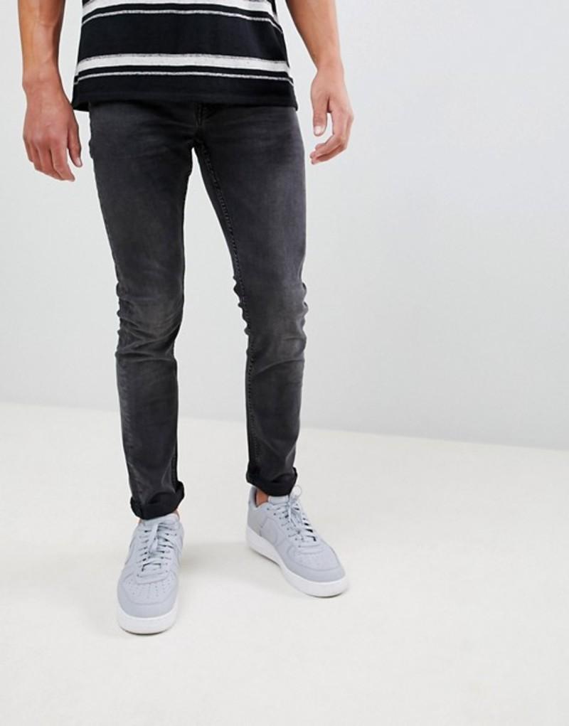 オンリーアンドサンズ メンズ デニムパンツ ボトムス Only & Sons Slim Fit Washed Black Jeans Black denim