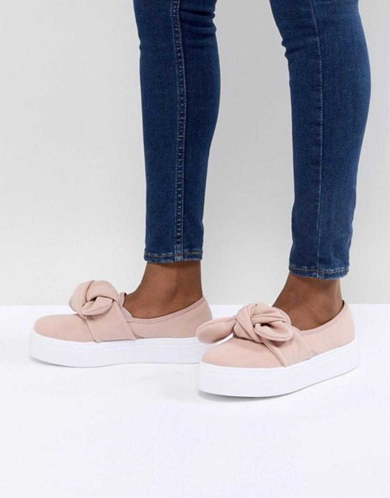 エイソス レディース スニーカー シューズ ASOS DESIGN Denise Bow Sneakers Pale pink