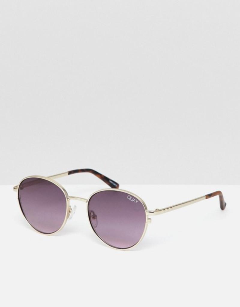 クアイオーストラリア メンズ サングラス・アイウェア アクセサリー Quay Australia Crazy Love round sunglasses Gold