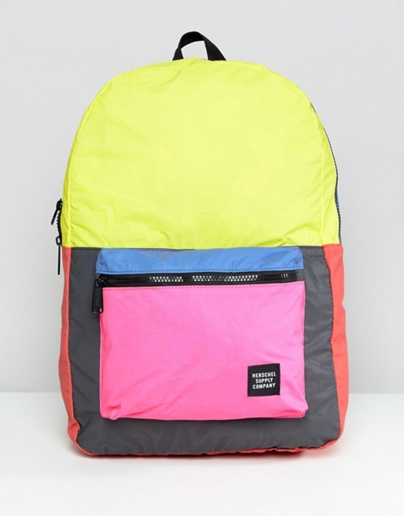 ハーシャル レディース バックパック・リュックサック バッグ Herschel Supply Co. Packable Reflective Backpack In Color Block Multi reflective