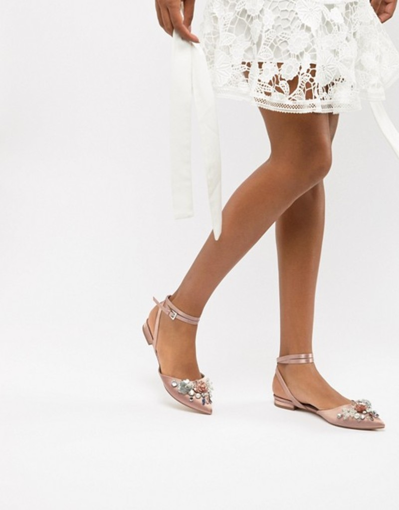 エイソス レディース パンプス シューズ ASOS DESIGN Love Struck Bridal Ballet Flats Warm beige