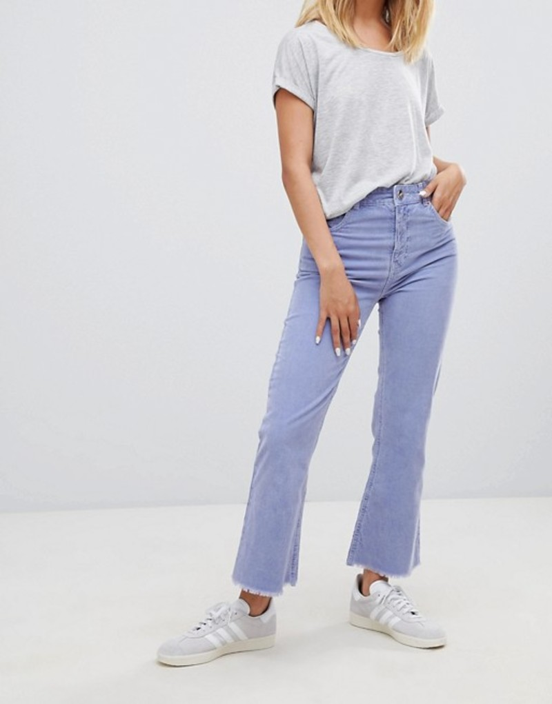 エイソス レディース デニムパンツ ボトムス ASOS DESIGN Egerton rigid cropped flare jeans in dusty lilac cord Dusty lilac