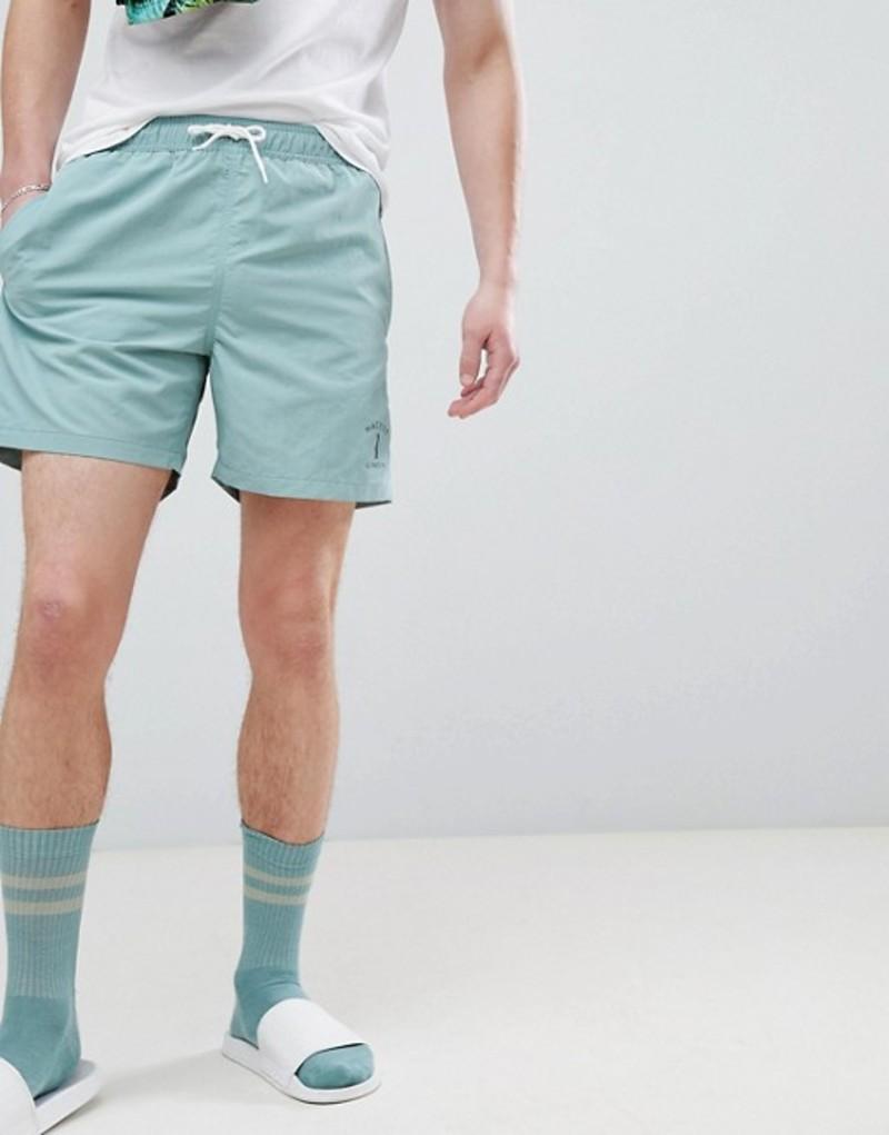 ハケット メンズ ハーフパンツ・ショーツ 水着 Hackett Mr. Classic Swim Shorts in Green Green