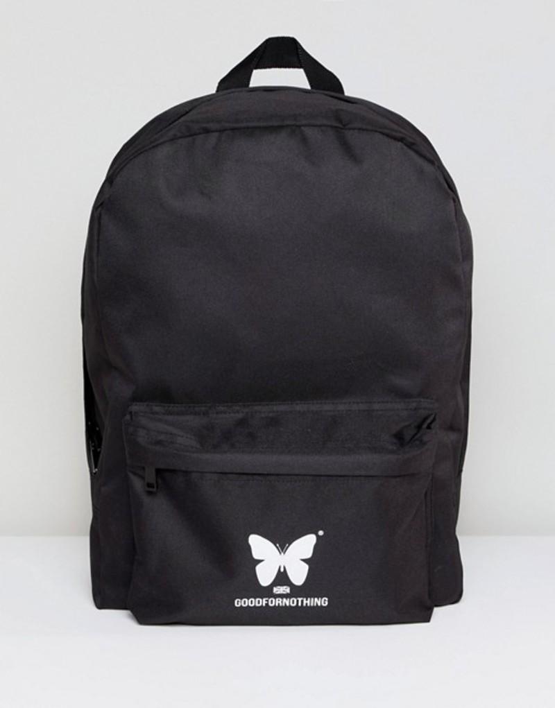 グッドフォーナッシング メンズ バックパック・リュックサック バッグ Good For Nothing logo backpack in black Black