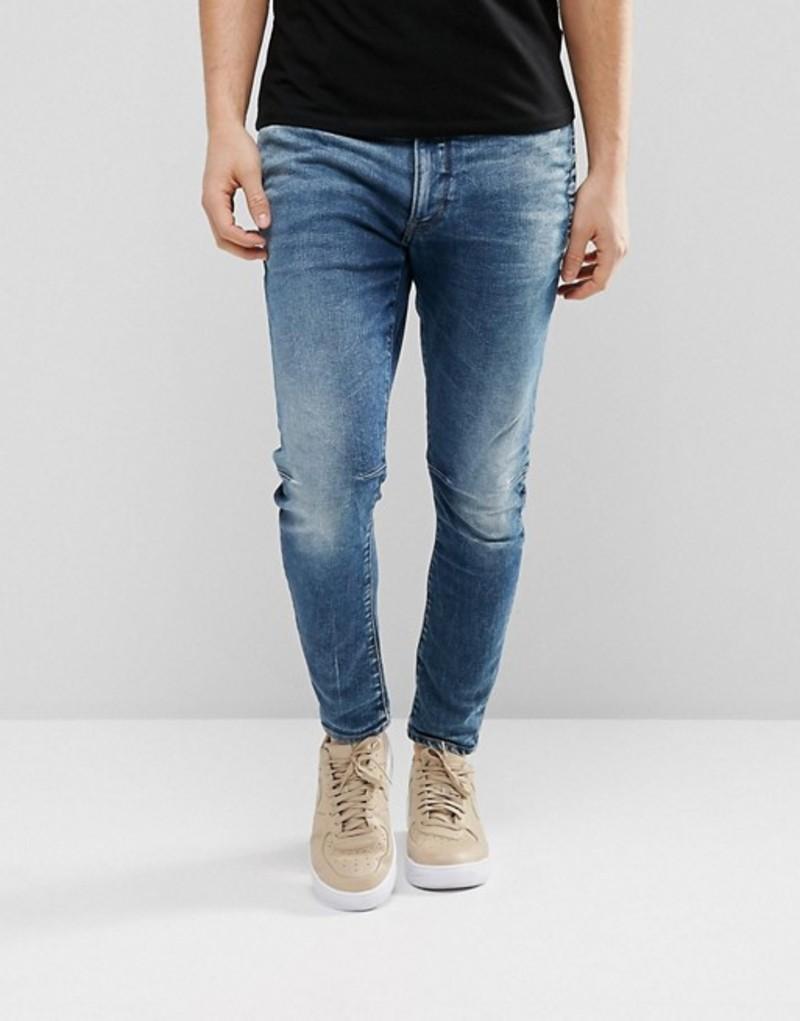 ジースター メンズ デニムパンツ ボトムス G-Star D-Staq 3D Super Slim Jeans Medium Aged Blue