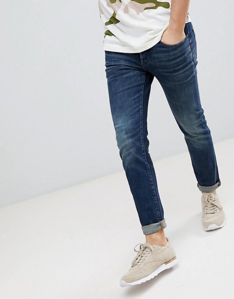 ジースター メンズ デニムパンツ ボトムス G-Star 3301 Deconstructed Slim Jean Medium Aged Blue