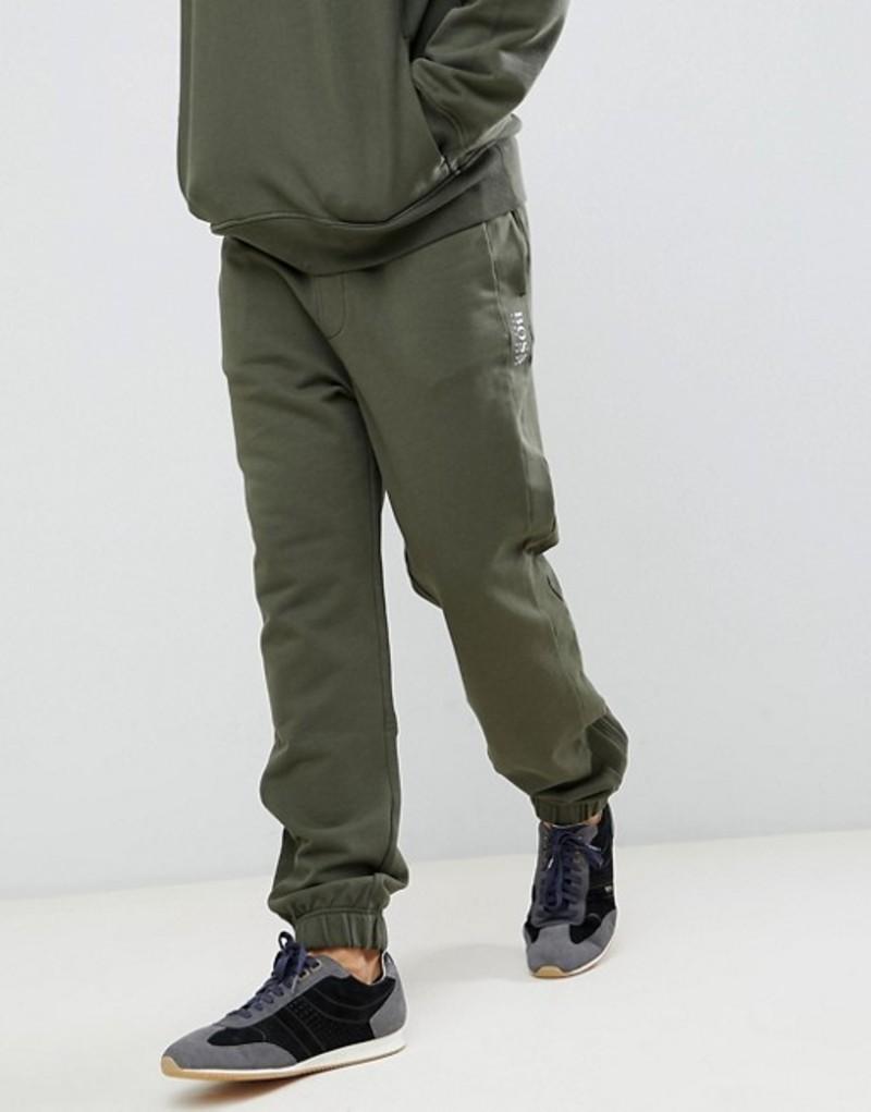 ボス メンズ カジュアルパンツ ボトムス BOSS Supersonic jogger in khaki Green