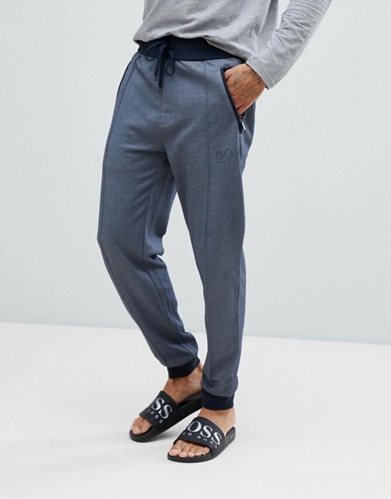 ボス メンズ カジュアルパンツ ボトムス BOSS bodywear cuffed joggers Navy