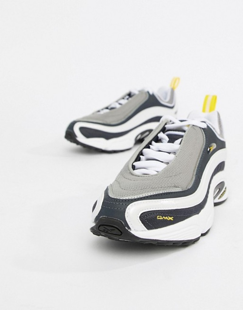 リーボック レディース スニーカー シューズ Reebok Black And Yellow Daytona Dmx Sneakers Grey