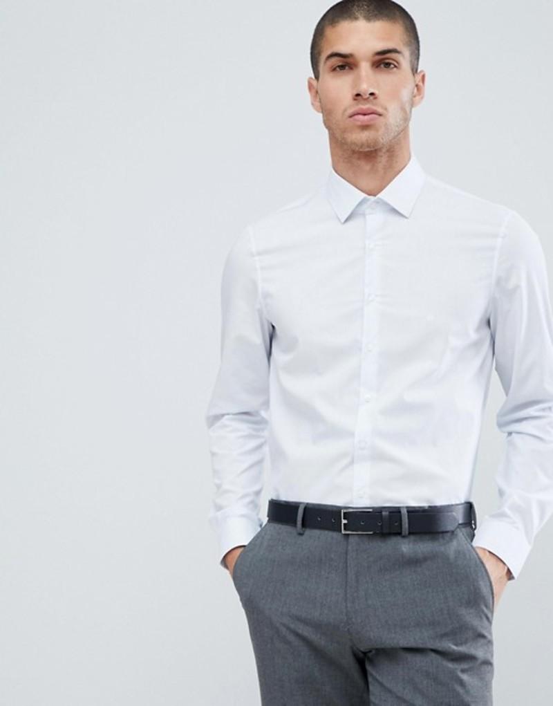 カルバンクライン メンズ シャツ トップス Calvin Klein Slim Fit Micro Stripe Shirt Blue Velvet Blue velvet