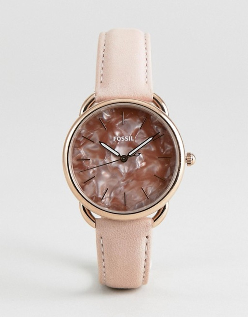 フォッシル メンズ 腕時計 アクセサリー Fossil ES4419 Tailor Leather Watch in Glossy Pink 35mm Pink
