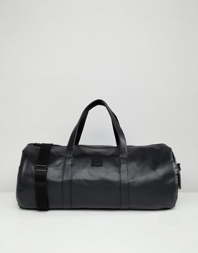 ジャック アンド ジョーンズ メンズ ボストンバッグ バッグ Jack & Jones faux leather duffel bag Black