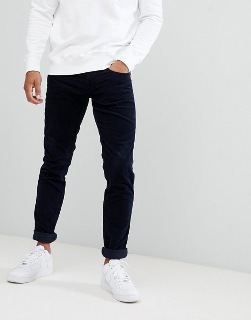 リプレイ メンズ デニムパンツ ボトムス Replay Anbass slim stretch corduroy jeans navy Navy