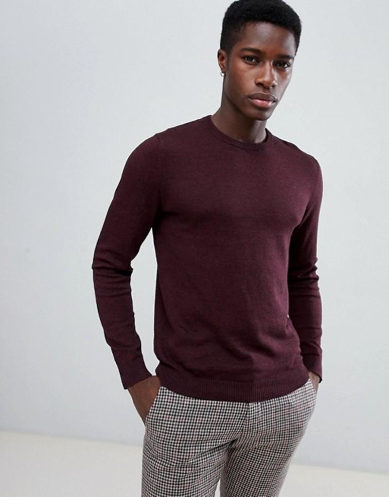 ジャック アンド ジョーンズ メンズ ニット・セーター アウター Jack & Jones Essentials Knitted Sweater Port royale