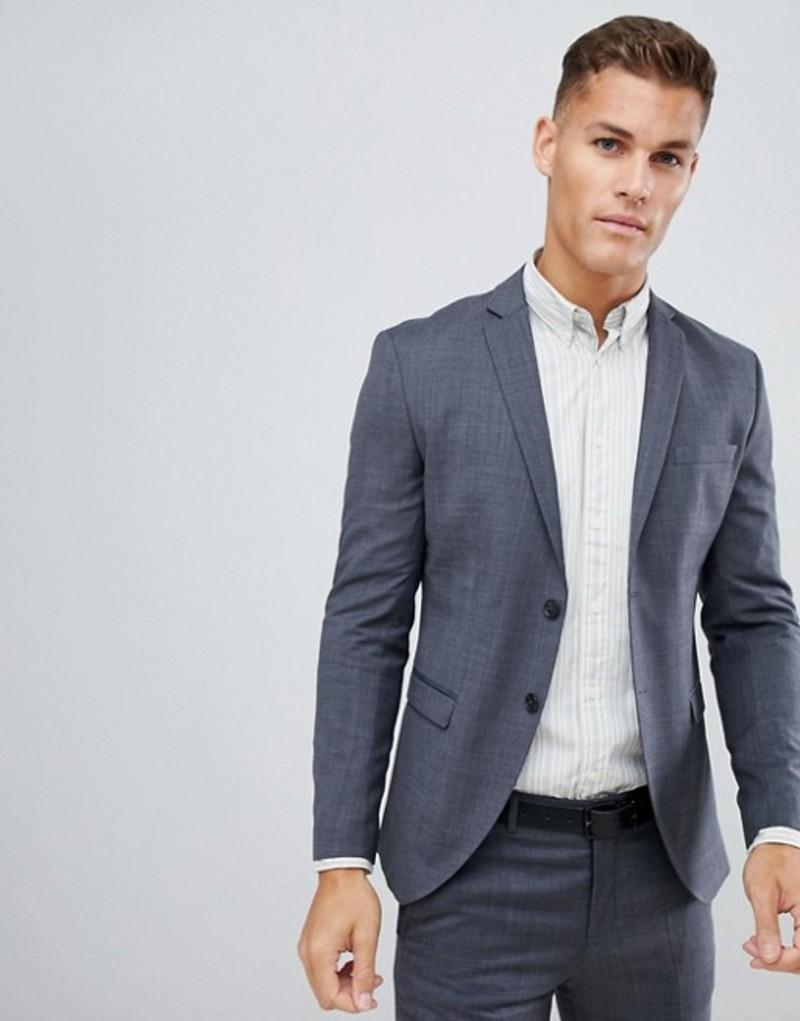 ジャック アンド ジョーンズ メンズ ジャケット・ブルゾン アウター Jack & Jones Premium Suit Jacket In Super Slim Fit Gray Dark grey