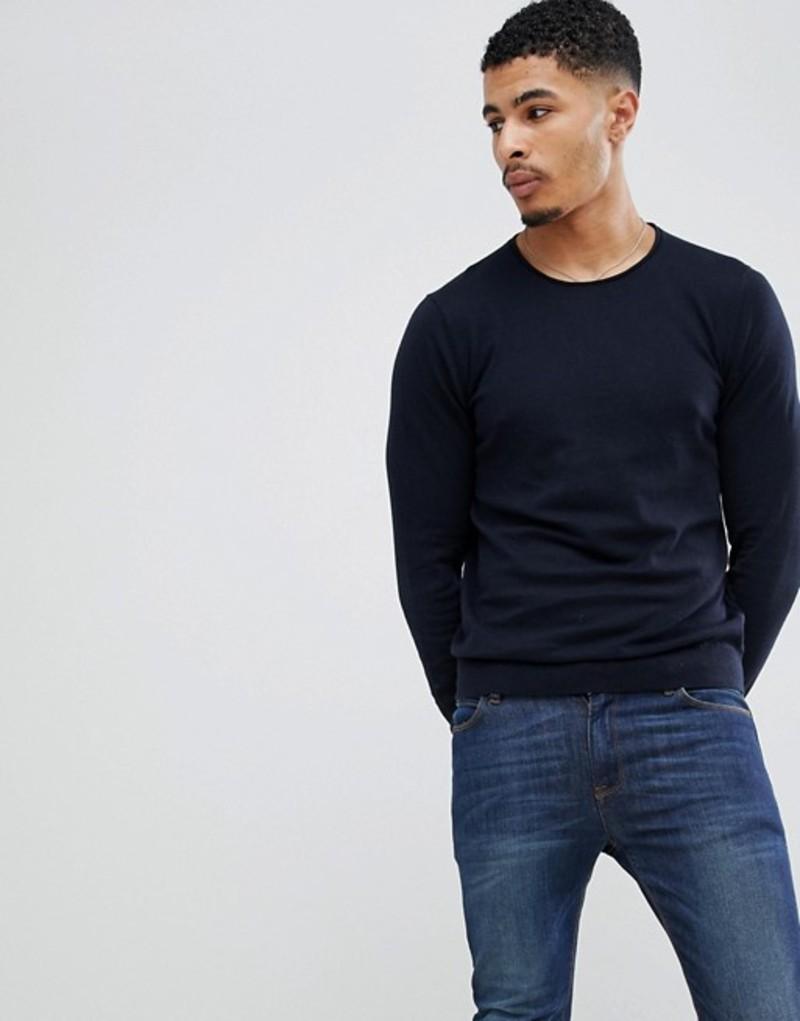 セリオ メンズ ニット・セーター アウター Celio Knitted Sweater In Cashmere Blend Navy