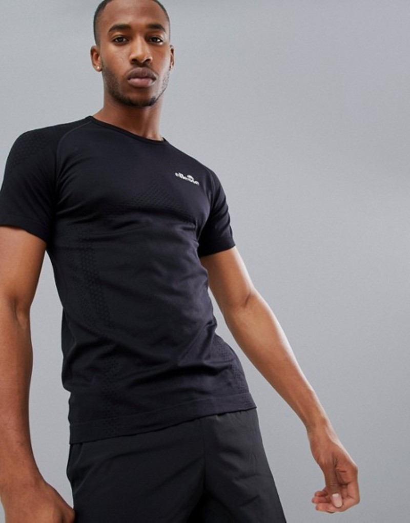 エレッセ メンズ Tシャツ トップス ellesse Sports Ster compression t-shirt in black Black