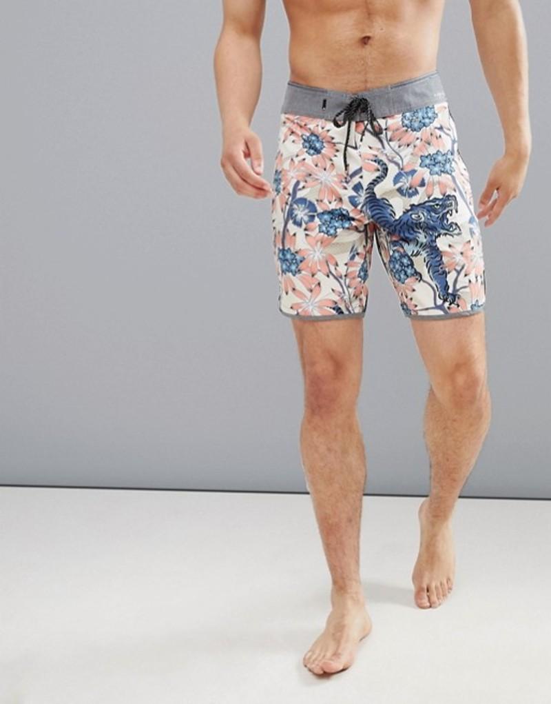クイックシルバー メンズ ハーフパンツ・ショーツ 水着 Quiksilver Highline Silver Fur Swim Shorts in Mutli Print Multi