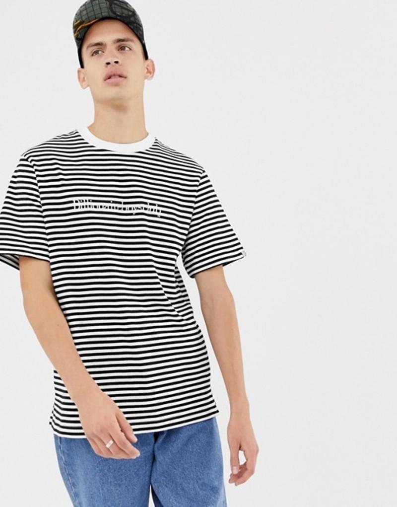 ビリオネアボーイズクラブ メンズ Tシャツ トップス Billionaire Boys Club striped t-shirt in white White