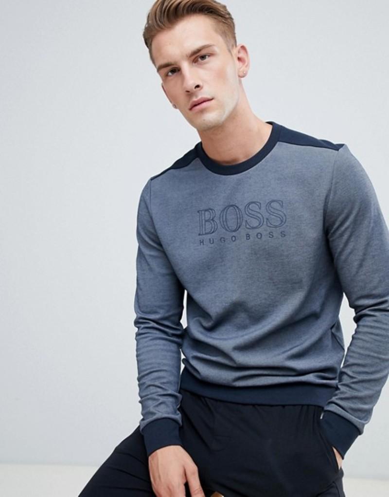 ボス メンズ パーカー・スウェット アウター BOSS bodywear long sleeve t-shirt Navy