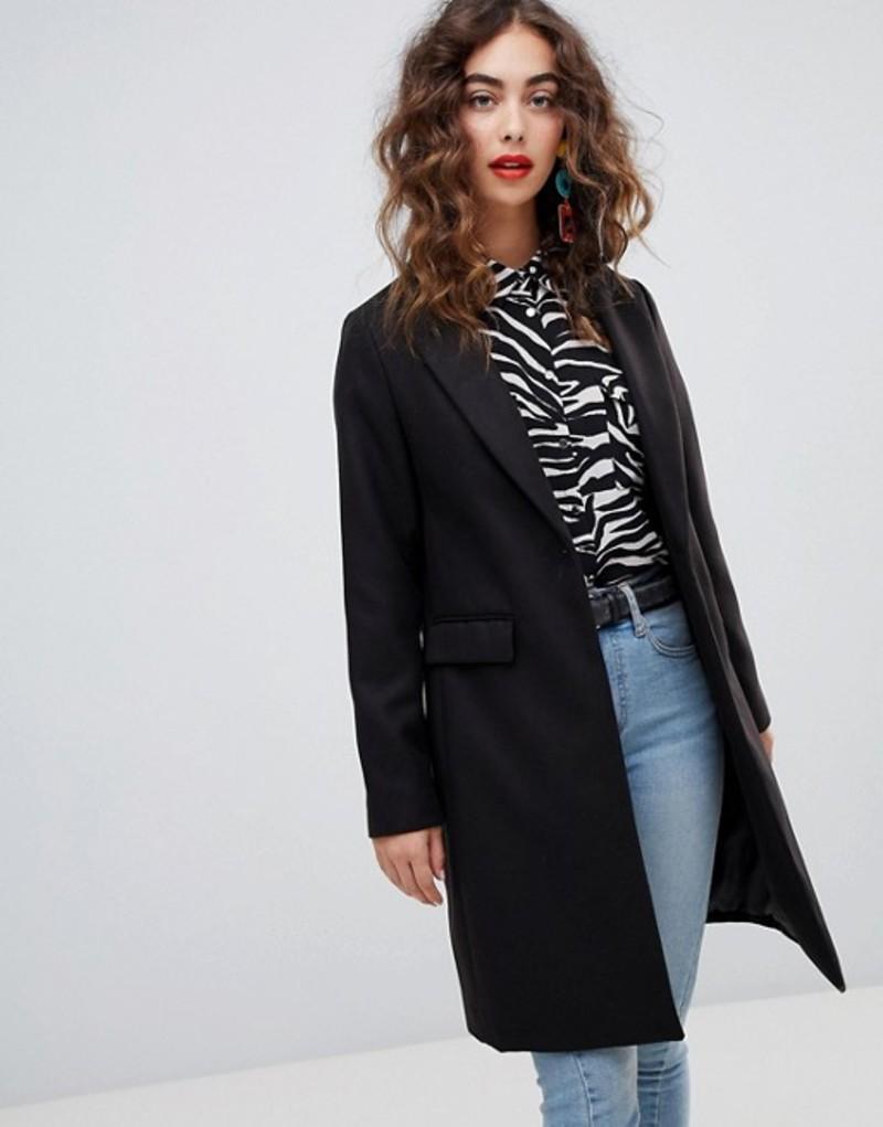 ニュールック レディース コート アウター New Look Tailored Coat Black